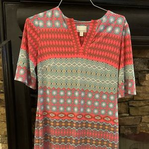 Donna Morgan pink and blue size 6 dress